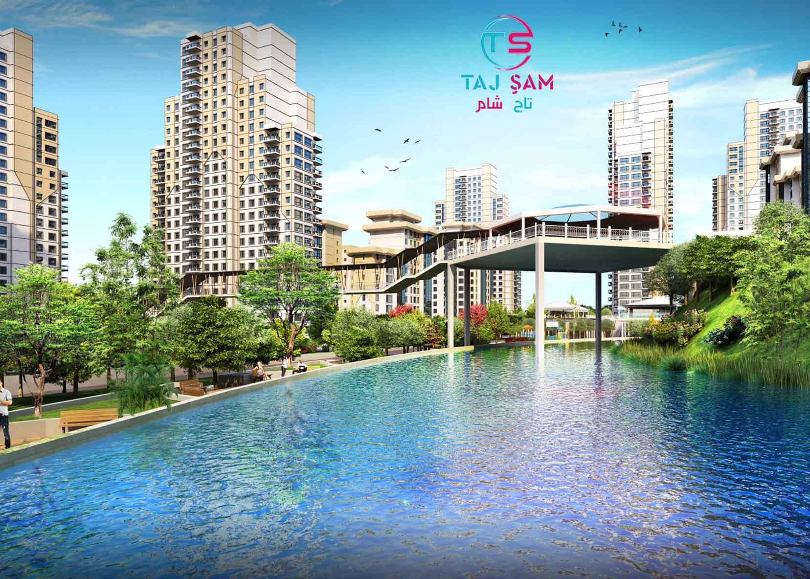 A huge residential project in Istanbul guaranteed by the Turkish government with a 20-year installment | TAJ – 3077